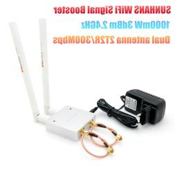 2.4GHz 1000mW 2T2R 300Mbps MIMO WiFi Signal Booster Router E
