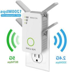 AC 1200Mbps WiFi Range Extender Repeater Dual Band Wireless