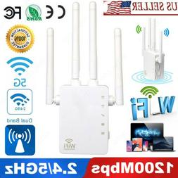 AC1200 WIFI Repeater 5G Gigabit 1200Mbps Router Wireless Ran