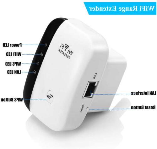 300Mbps WiFi Repeater Extender Amplifier