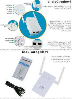 300Mbps Wireless-N WiFi Repeater Network Router
