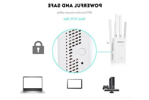 AC1200 WiFi Repeater Wireless 300m Extender Router Booster Band Gigabit