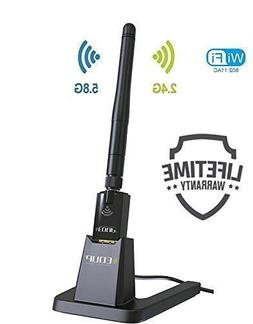 USB Wifi Adapter with USB Stand and External Antenna AC 802.