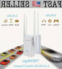 Meco Wireless-AC 750Mbps Wifi Repeater Dual Band 2.4G/5G WiF