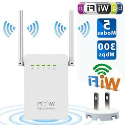 300Mbps Wireless Range Extender WiFi Signal Booster Repeater